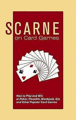 1 of 1 - Scarne on Card Games: How to Play and Win at Poker, Pinochle,-ExLibrary