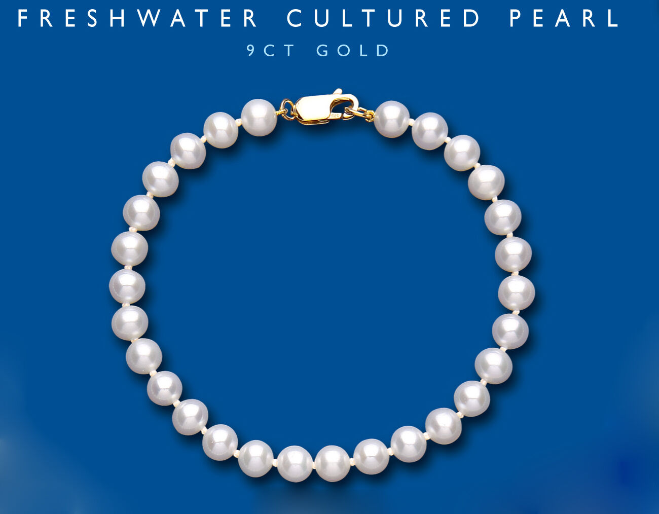 Freshwater Cultured Pearl Bracelet 9 Carat Yellow gold Fittings Hallmarked