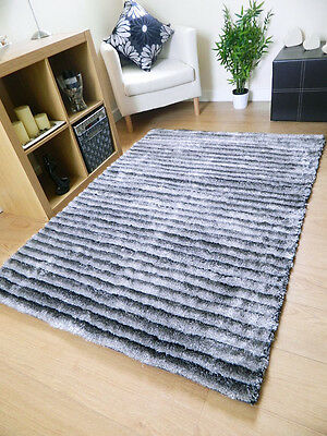 NEW SMALL LARGE MODERN RUGS THICK SHINY SOFT SILKY SHAGGY TWILIGHT SABLE RUG