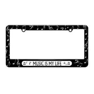 image is loading music is my life notes license plate tag - Music Note Picture Frame