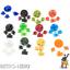 Gameboy-Classic-Knoepfe-GB-Buttons-Game-Boy-Tasten-pad-DMG-Pads-Taste-13-Farben Indexbild 1