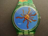 Swatch Montre Bracelet Plastique Gent Tortue Fille Femme Nova Gz158 Watch 1999