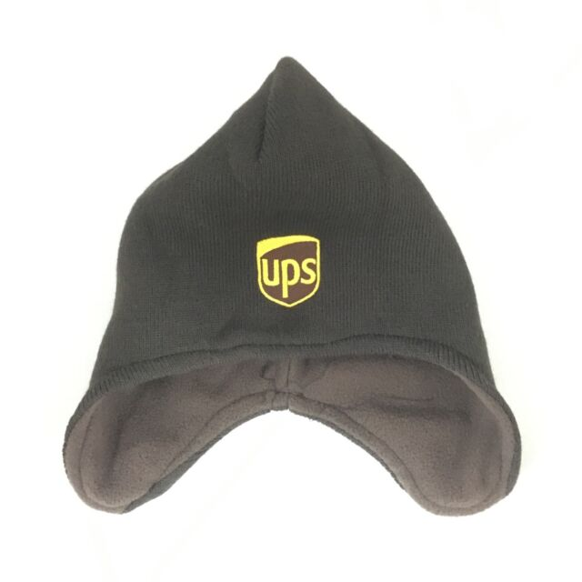 UPS Helmet Beanie Winter Hat Decky Custom Embroidery Cuffed Knit Brown Ear  Cover 24b12ca601c