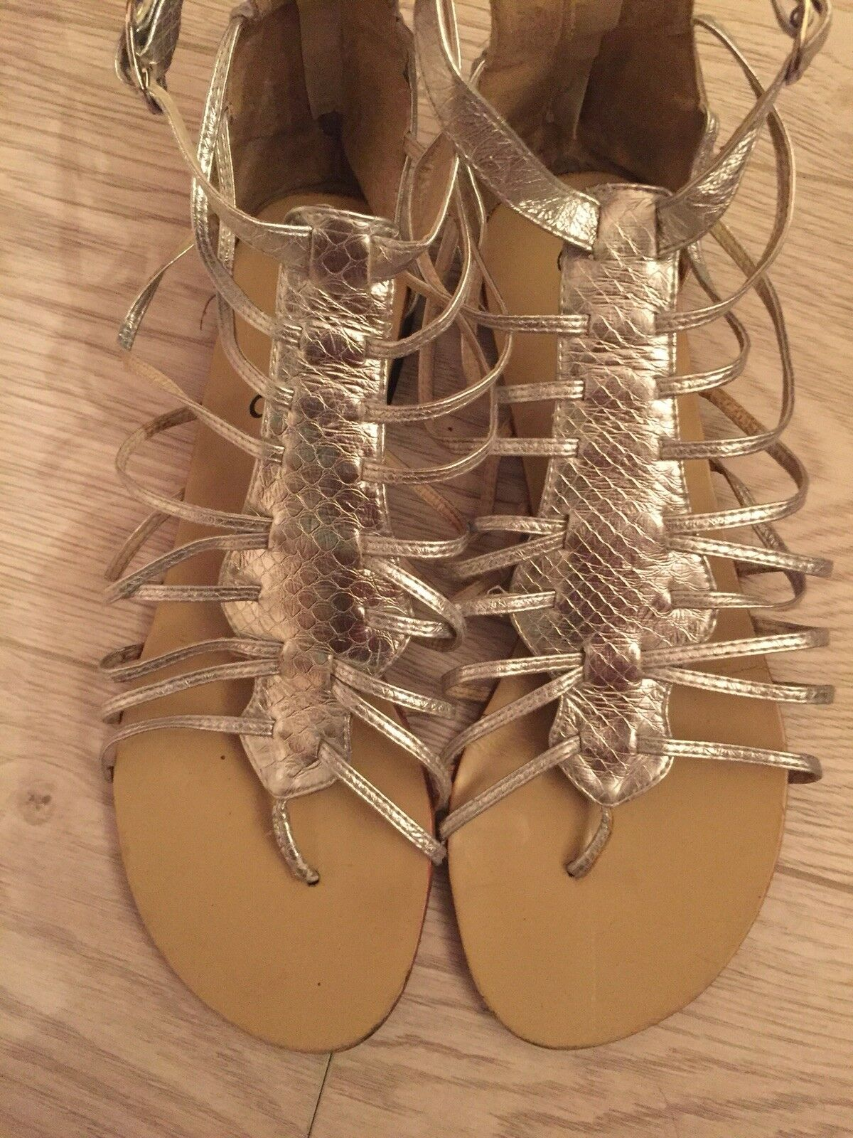 Silver Strapy Sandals Size 5