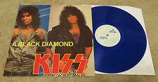 KISS A BLACK DIAMOND BLUE VINYL LP - LIU STUDIO SESSIONS