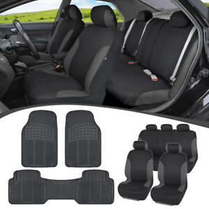 Car SUV Seat Covers for Auto & Heavy Duty Rubber Floor Mats...