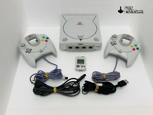 Sega-Dreamcast-Console-Bundle-OEM-Controller-VMU-Clean-amp-Tested-FREE-SHIPPING