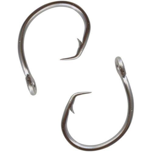 39960D Tuna Circle Hook Stainless Steel Big Game Saltwater Fishing Hook 8//0-14//0