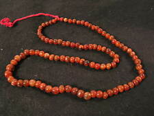 1 Strang alte Achatperlen N Karneol 1 strand Carnelian Stone trade beads Afrozip