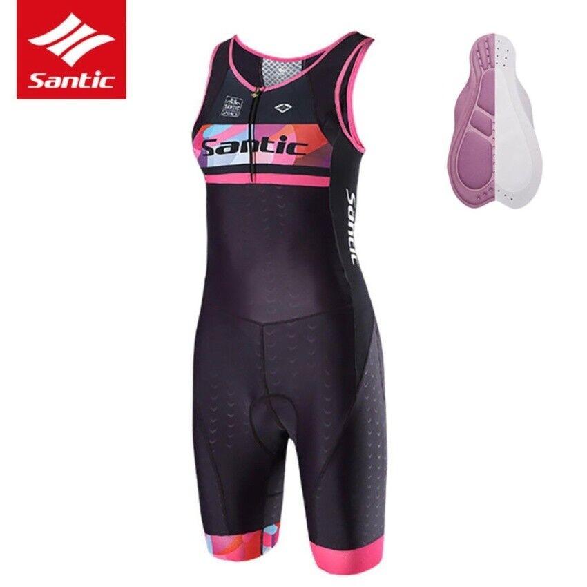Santic donna Bike Cycling Jersey Triathlon Onepiece Sleeve AntiUV Breathable
