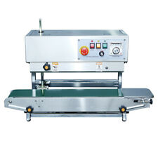 Fr 900v Continuous Vertical Band Sealer Machine With Steel Printing For Date