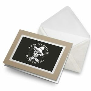 Greetings-Card-Biege-Day-of-the-Dead-Sugar-Skull-4237