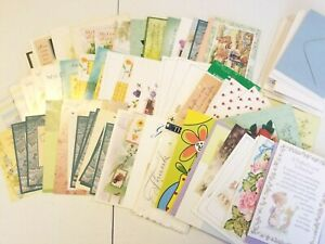 Vintage-Greeting-Cards-Religious-Cards-Unused-Bible-Journaling-Girl-HUGE-LOT-C