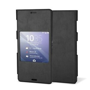 Funda-Sony-Xperia-Z3-SCR24-Negro-Nueva-Original