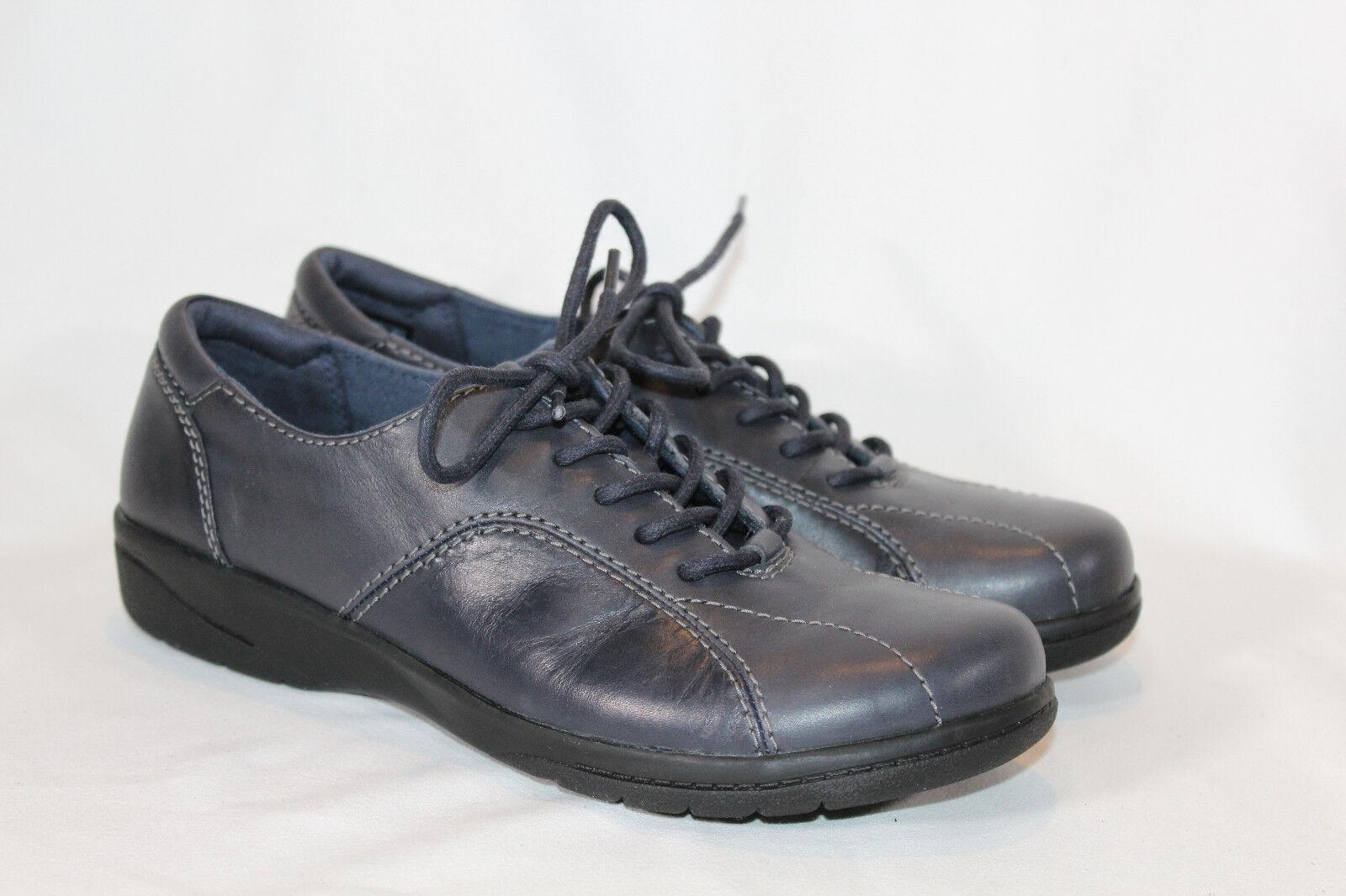 Clarks Leather Lace-up shoes - Cheyn Ava 6.5 MEDIUM NAVY