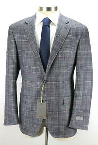 1850-CANALI-Kei-Unstructured-Blue-Wool-Silk-Cashmere-Jacket-Coat-46-R-56-EU
