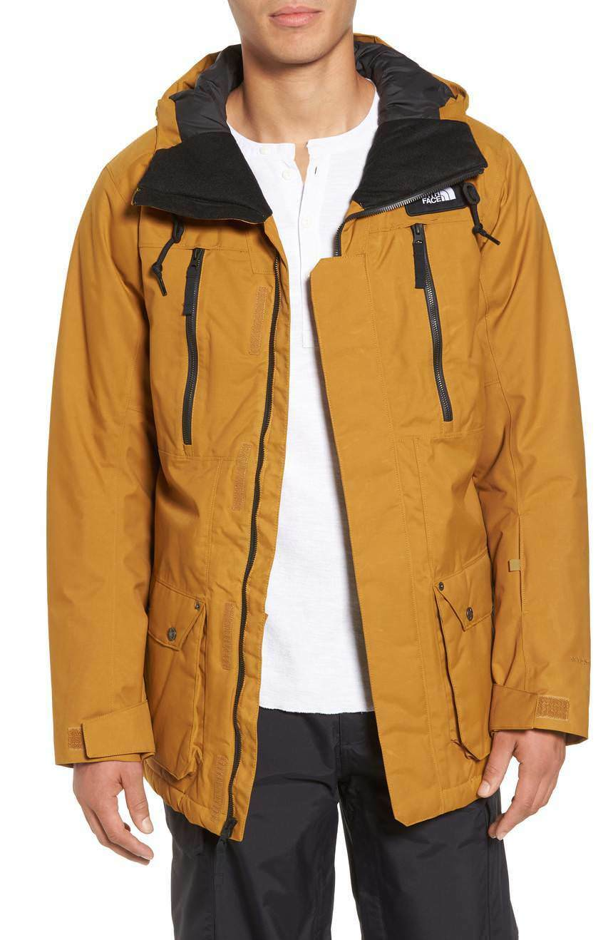 2018 NWT MENS THE NORTH FACE HEXSAW SNOW JACKET  300 XL Golden braun