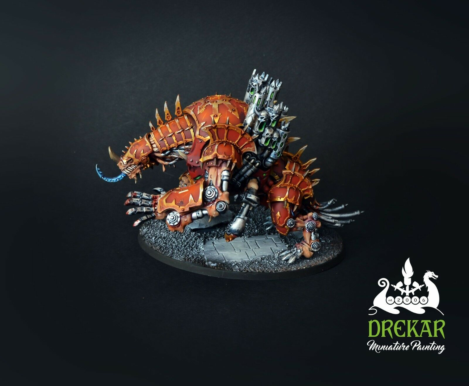 Maulerfiend chaos space marines warhammer 40K  COMMISSION  painting painting painting 1e3a13
