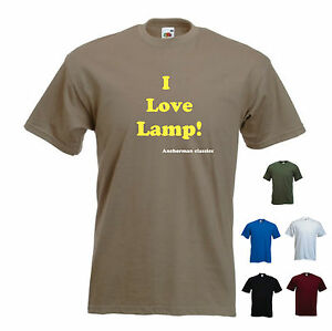 Details about 'I love Lamp' Anchorman - Funny mens T-shirt  S-XXL