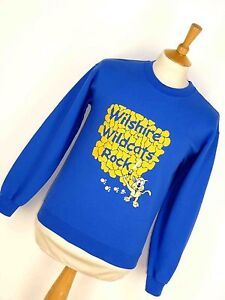 Vintage-Retro-Wilshire-Wildcats-Rock-Usa-Sweater-Jumper-Sudadera-Emo-S