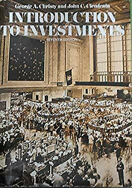 Introduction to Investments by Christy, George A.-ExLibrary