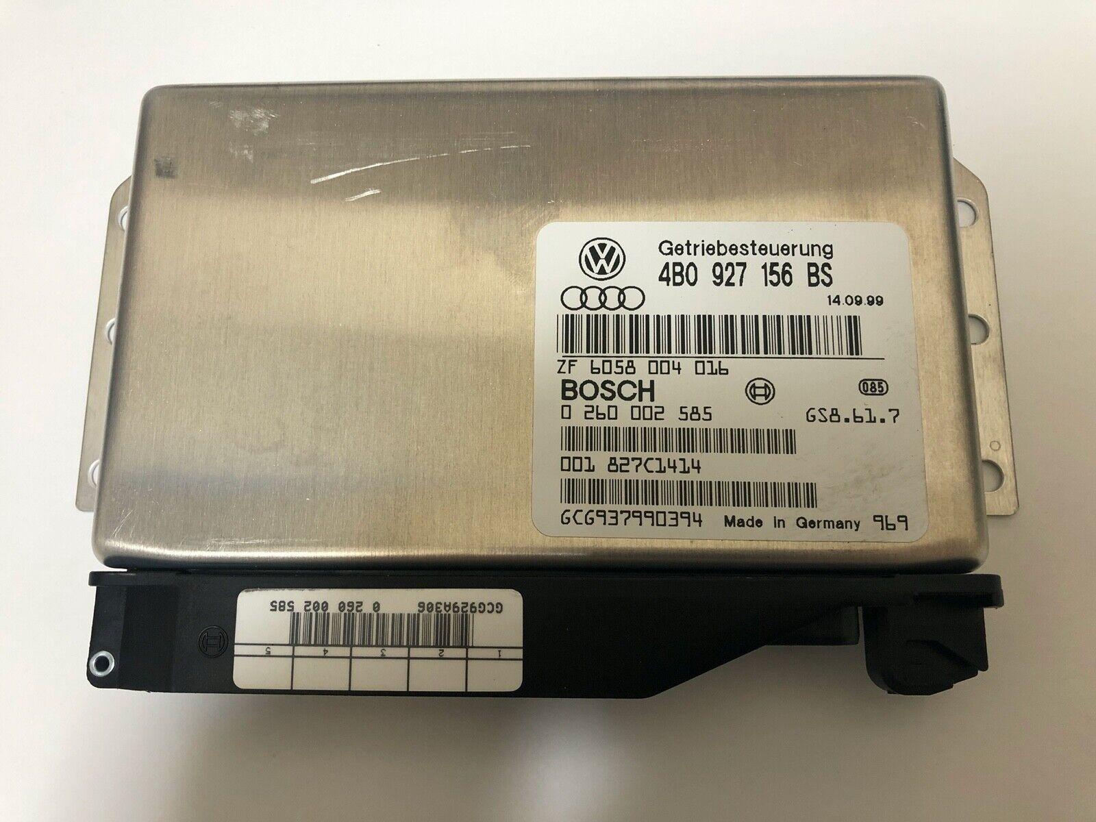 99-02 Audi A6 4.2 V8 Transmission Control Unit TCU 4B0927156BS