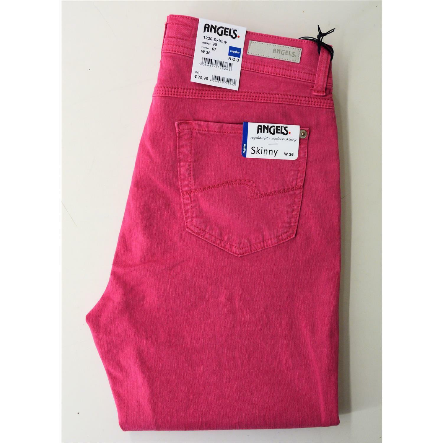 Angels Skinny alla moda donna Jeans Slim Fit Fit Fit in rosa, power stretch 28c446