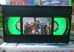 Marvel Avengers Retro VHS Night Light, Desk Lamp, Led, Bedroom Lamp, TV, Kids