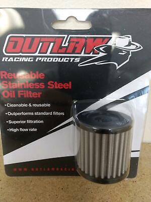 Outlaw Racing OR139 Reusable Oil Filter ATV//DIRT Suzuki DRZ400//S 2000-2015