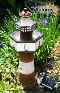 Fontaine Cascade Solaire Phare Bretagne 2 Niveaux Décoratif Jardin ...