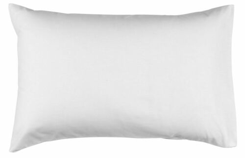 4 X White Bouncy Pillows Soft Luxury 100/% Housewife Premium Cotton Pack