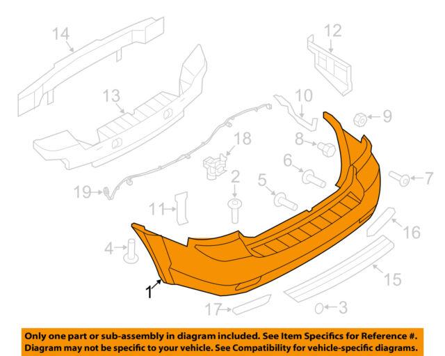 KIA OEM 07-09 Sorento Rear Bumper-Bumper Cover 866113E500