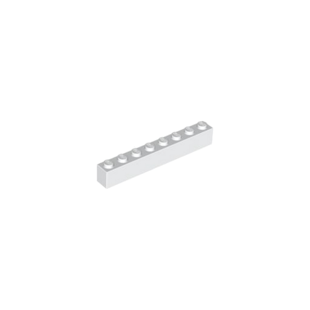 15 X LEGO BRICK 1 X 8 PART 3008 WHITE