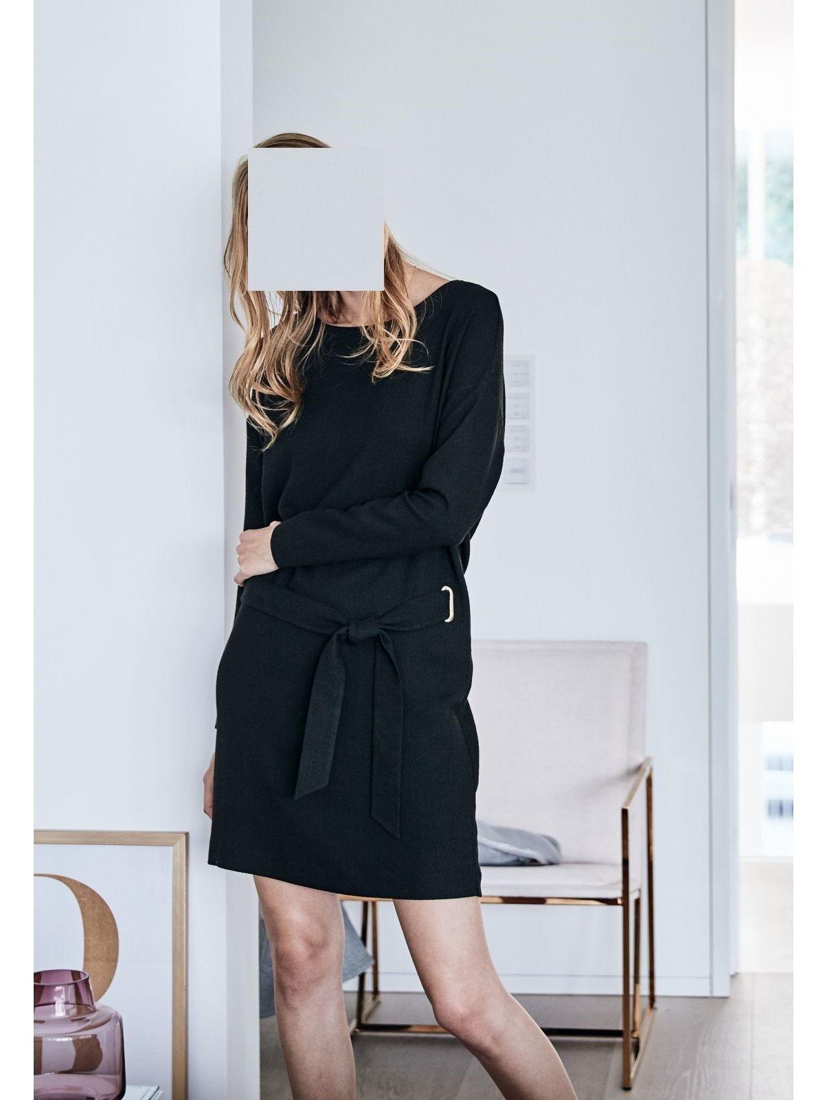 Marken Kleid, mit Bindegürtel, Modisch, Kunstfaser GR. 38 1117086230