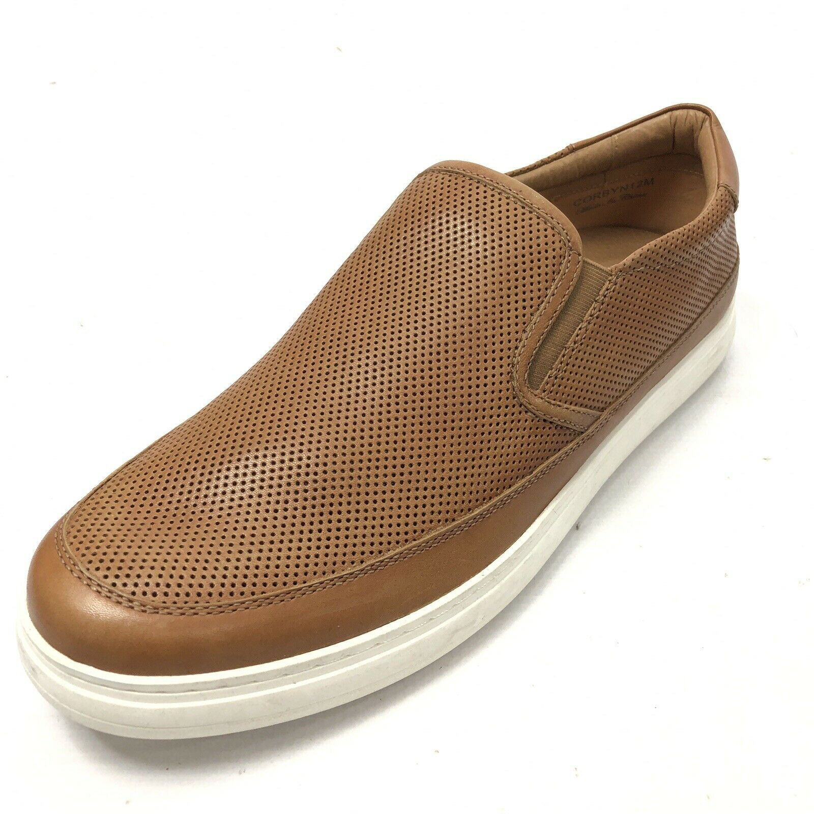 DONALD J PLINER Corbyn Men's 12 Fashion Sneaker Slip On Perforated Brown NEW