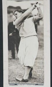 Details About 1929 Bobby Jones Statuesque Swing Type 1 Photo Affixed To Thin Cardboard 3x7