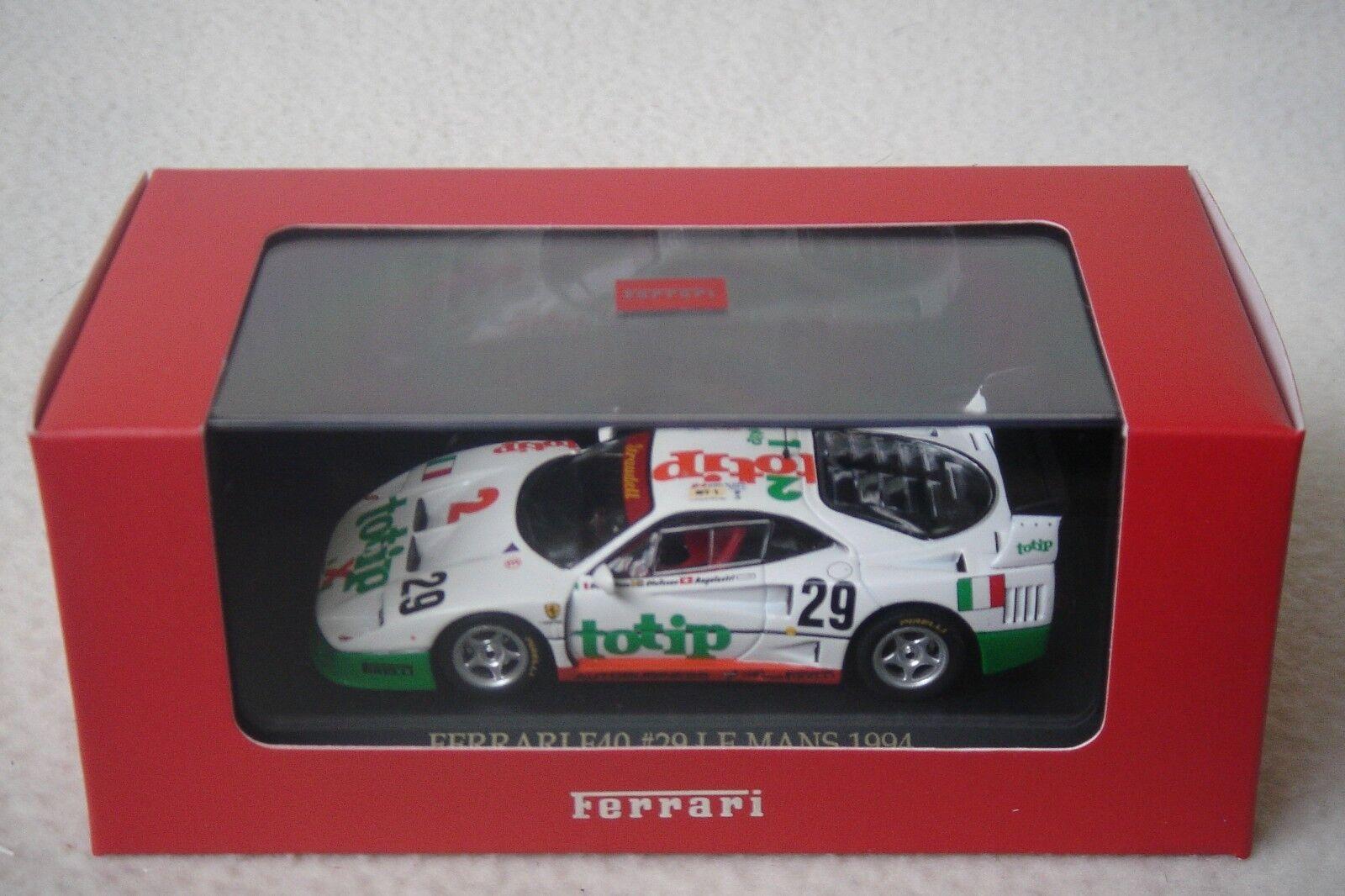 IXO 1 43 Ferrari Ferrari Ferrari F40 Racing FER0010 99c3ac