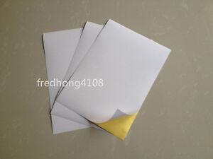 A5 Glossy Printable Self Adhesive Label Sticker Paper Printer Paper Sheet White