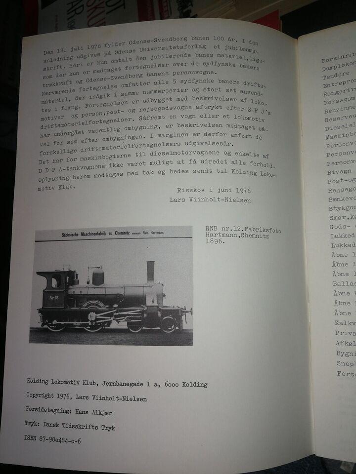 Andre samleobjekter, Sydfynske Jernbaners materiel
