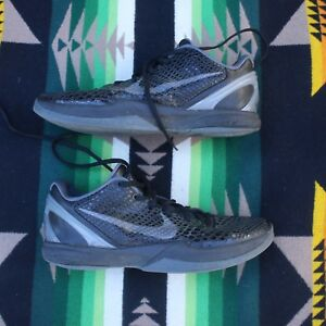 online store 19a33 abb75 Image is loading 2011-NIKE-ZOOM-KOBE-VI-6-BLACKOUT-BLACK-