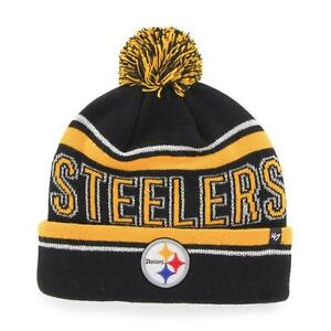 4683a927 Details about NFL Pittsburgh Steelers '47 Women's Ellie Cuff Knit Beanie