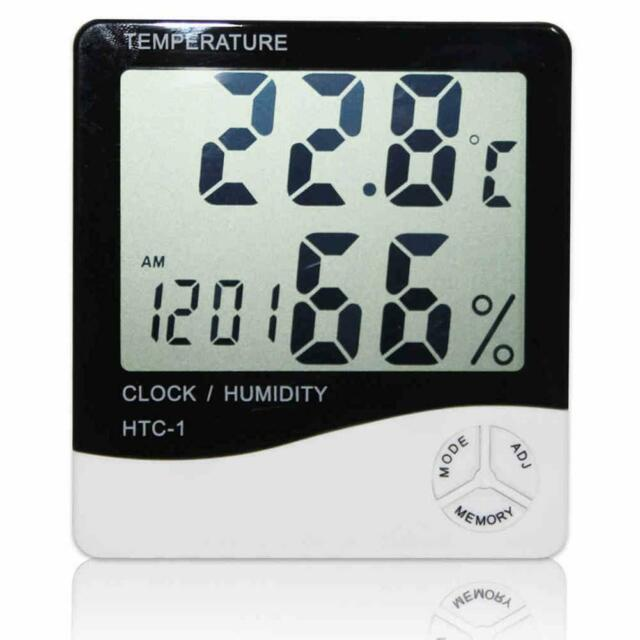 Digital LCD Thermometer Hygrometer Temperature Humidity Meter Indoor/ Outdoor BG