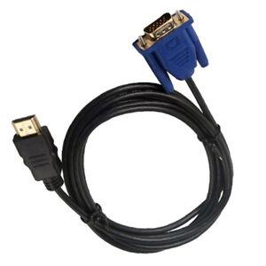 1 X VGA A HDMI Cavo HD15 Maschio Filo 1m Per Pc Computer Adattatore Video 2019
