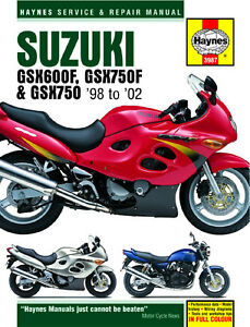 Haynes-Manual-3987-for-Suzuki-GSX600F-GSX750F-amp-GSX750-034-Retro-034-98-02
