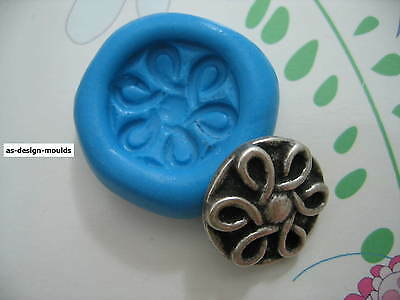 Vintage Art Deco Button Silicone Mould/Mold Sugarcraft, Wedding & Cake Toppers