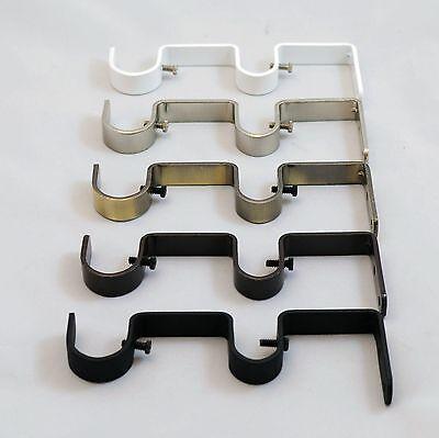 """Urbanest Heavy Duty Steel Double Drapery Curtain Rod Bracket, for 1"""" or 3/4"""" rod"""