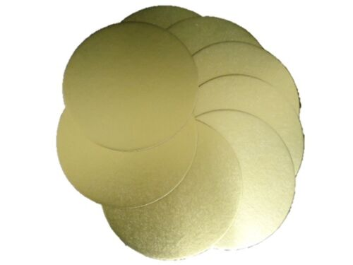 5 x Professional 180mm Round Gold Circle Cake Board Base 1.7mm Thick #2C1