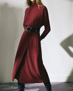 Massimo-Dutti-Limited-Edition-open-back-dress-Size-8-Dark-Pink