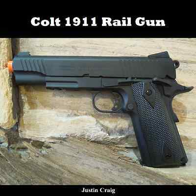 Colt Full Metal Blowback 1911 Antique Black CO2 Gas Airsoft Pistol Gun FREE SHIP
