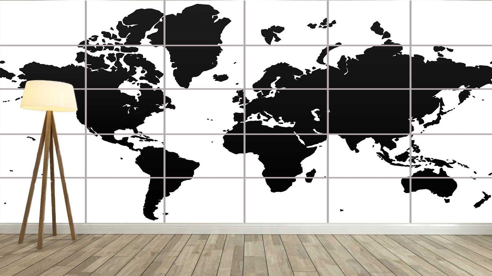 WORLD MAP CARTE DU MONDE Vector Style XXL Poster Home Home Home Deco Salon 252cmX150 aa1bc2